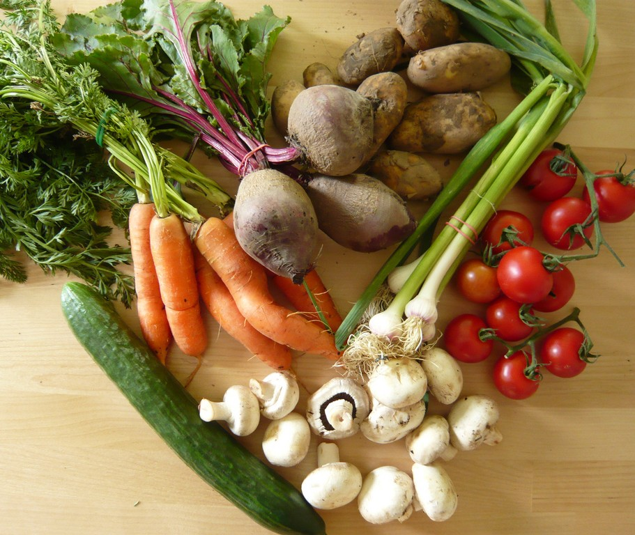 Vegetables like this bunch are packed full of vitamins, nutrients, and minerals for healthy aging
