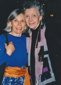 Elaine and Marion Woodman after a workshop: 2003