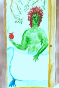 Green Man (painted by Elaine)