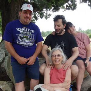 David, Anthony, Liz, and Elaine before the rain