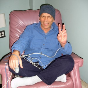 Vic during stem cell transplant, 2007