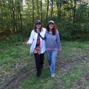 Lauren and Eve Abrams in my woods