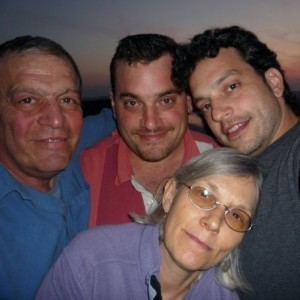 Vic, David, Anthony, and me--6 weeks before Vic's death