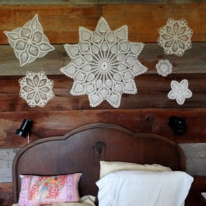 Grandma's doilies over my bed