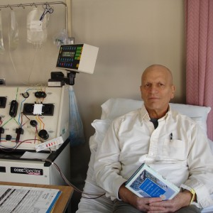 Vic during part of stem cell transplant