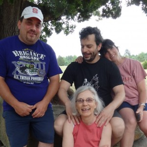 Family 2013: David, Anthony, Liz, and me