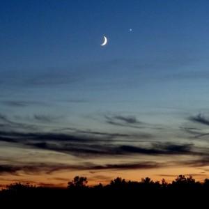 Moon and Venus (Goddess of Love) 2013