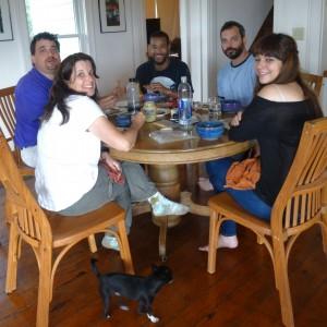 David, Liz, Artist Keenan Nielbock, Anthony, and Veronica