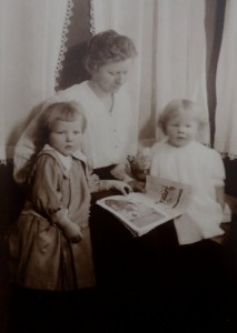Grandma and her daughters, my mom on left