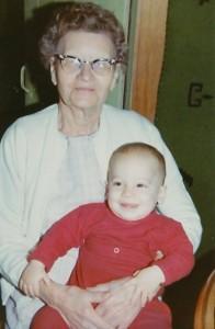 Grandma with baby David 1971