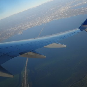 Taking off over Tampa Bay