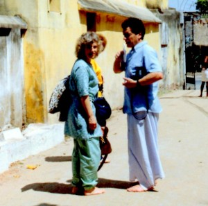 In India with Vic cradling his camera
