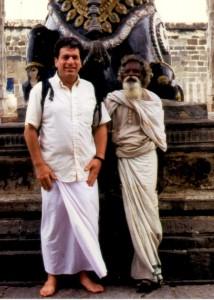 Vic and a saddhu, India, 1994