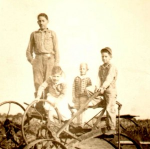 Tallest one on the hay wagon ~1928