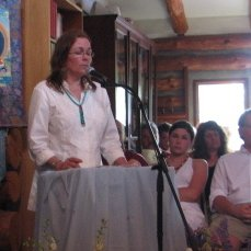 Lauren at Vic's memorial service 2008