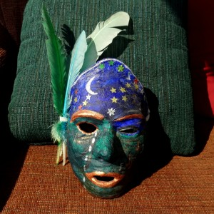 My Lady of Grief and Praise (mask made during Vic's illness, 2007)