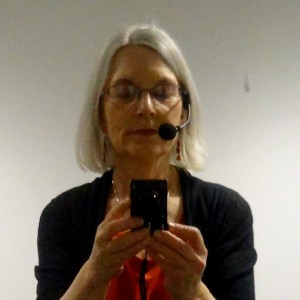 Composing a selfie and myself just before the TEDx talk
