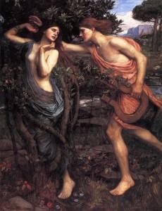 Apollo and Daphe, J.W. Waterhouse. 1908