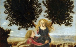 Apollo and Daphne, Antonio del Pollaiolo, ~1470