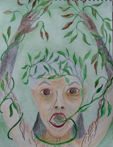 Self-portrait as Daphne (2008)