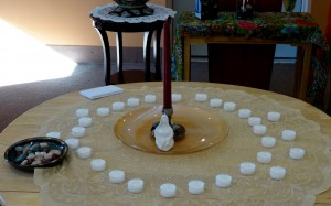 Preparing altar for the ritual