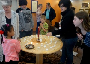 Putting out the candles