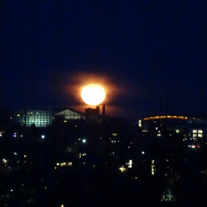 Moonrise in Ithaca April