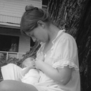 Elaine and David (one week old, 1970)