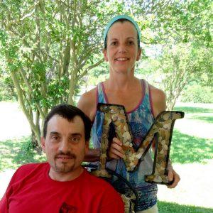 David & Liz on their porch