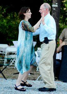 Jim dancing with his daughter, 2013