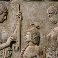 Persephone, Triptolemos, & Demeter, Eleusis, 430-440 BCE, wikipedia
