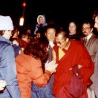 Meeting the Dalai Lama at the Ithaca Airport, 1979
