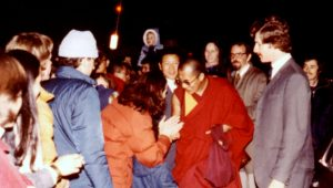 Meeting the Dalai Lama at the Ithaca Airport, 1979