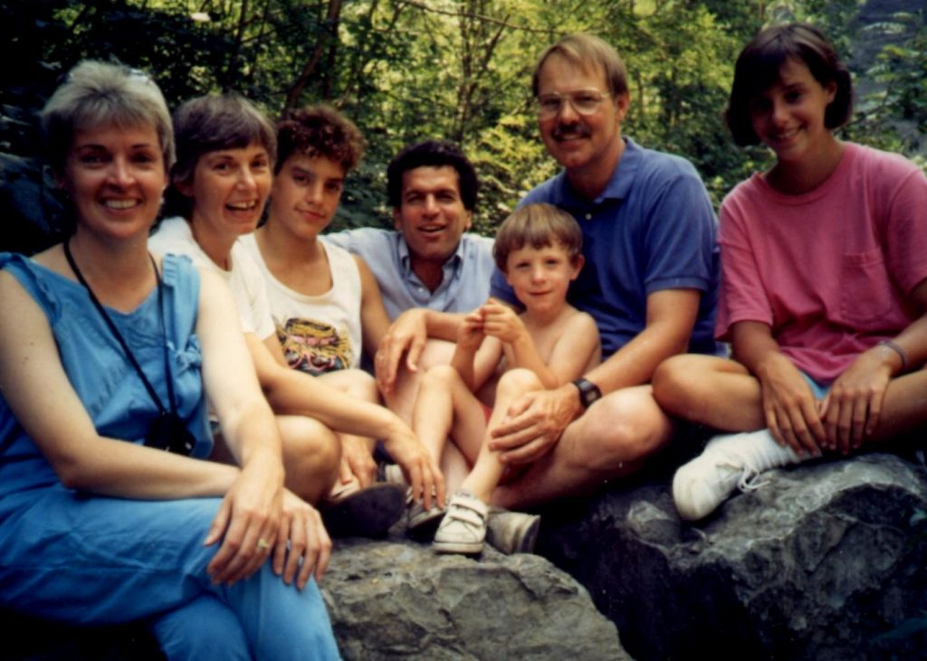A rare family visit in1986