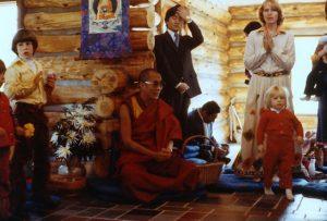 Dalai Lama, Pat (standing) w/ her son Rafael