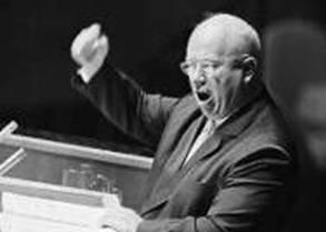 Russian Premier Nikita Khruschev at UN, 1960