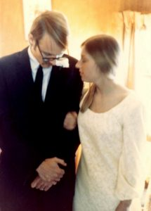 """Playing """"father of the bride"""" at my wedding 1968"""