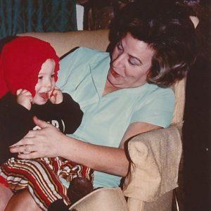 Virginia with first grandchild David