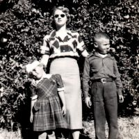 With Jim and Mom in Arizona, 1950