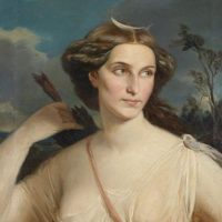 Diana, Göttin der Jagd, Öl auf Leinwand, ~1900 wikimedia commons
