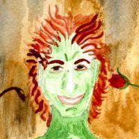 Green Man, watercolor, 2008