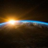 Sunrise over the earth, Smithsonian, Public Access